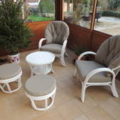 019 fauteuils Golf et pouf rotin veranda exodia home design rennes