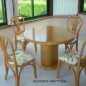 023 Diana table ronde extensible véranda rotin miel orchidée exodia home design rennes