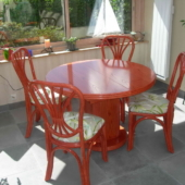 024 sejour Diana rotin table ronde extensible mandarine veranda exodia home design rennes