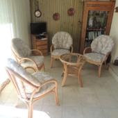 034 fauteuils rotin Golf miel et table basse exodia home design rennes