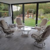 037 fauteuils pivotants rotin Madrid ivoire veranda exodia home design rennes