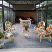 044 salon Golf sejour rotin veranda fleurs exodia home design rennes