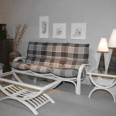 127 salon rotin blanc Valence canape 3 places exodia home design rennes