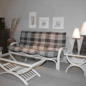 127 salon rotin blanc Valence canape 3 places exodia home design rennes