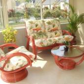 130 salon Valence rouge rotin veranda exodia home design rennes
