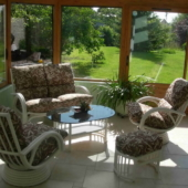 134 salon Valence rotin veranda nata feuilles fauteuil relax exodia home design rennes
