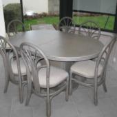 sejour Diana veranda rotin table ovale extensible exodia home design rennes