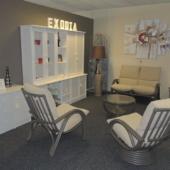 027 salon Valence fauteuil rotin relax titanio tissu gris exodia home design rennes