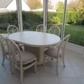 sejour Diana veranda table et chaises en rotin ivoire exodia home design rennes