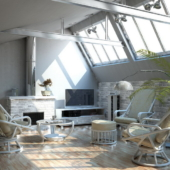 coin salon Madrid rotin fauteuils pivotants nata exodia home design rennes veranda