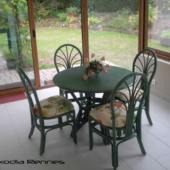 mobilier de véranda sejour rotin veranda table et chaises verts exodia home design rennes