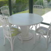 table ronde rotin Talia nata veranda exodia home design rennes