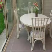 veranda Roma table et chaises rotin ivoire exodia home design rennes