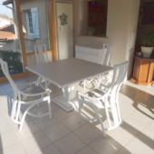 table Talia rotin extensible carre nata veranda exodia home design rennes