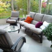 canape et fauteuils rotin salon Valence titanio veranda exodia home design