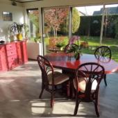 mobilier de véranda rotin table veranda pruna bahut Exodia Home design