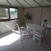 sejour jeu blanc rotin veranda table ovale exodia rennes