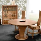 table Talia ronde extensible 3 rallonges frene