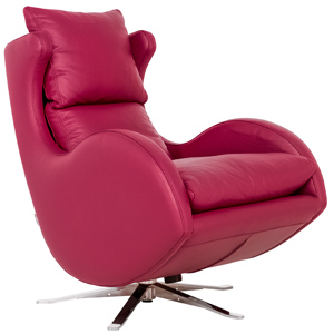 fauteuil relax Lenny FAMA cuir violet