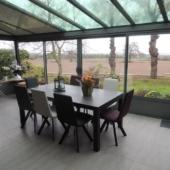 sejour table extensible ceramique Enix veranda exodia