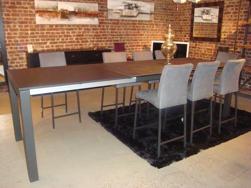 Tables c ramiques extensibles exodia home design rennes for Table haute avec rallonge