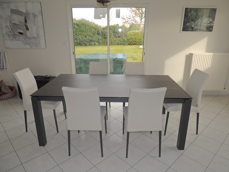 Tables c ramique extensibles exodia for Table et chaise blanche