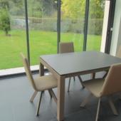 table ceramique extensible et chaises design veranda