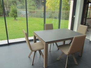 table ceramique extensible et chaises design veranda