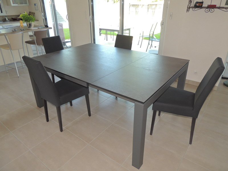 Tables c ramique extensibles exodia for Table extensible cuisine