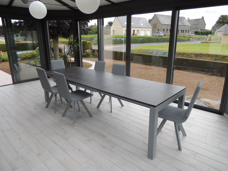 Tables c ramique extensibles exodia - Table grise avec rallonge ...