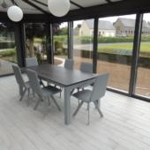 table extensible ceramique veranda gris clair veranda
