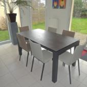 table veranda ceramique extensible chaises bicolor exodia