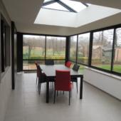 table ceramique extensible veranda rouge et gris
