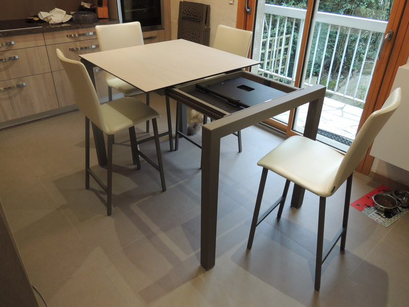 table haute extensible