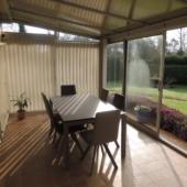 table ceramique extensible beige veranda