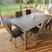 ensemble veranda table ceramique extensible