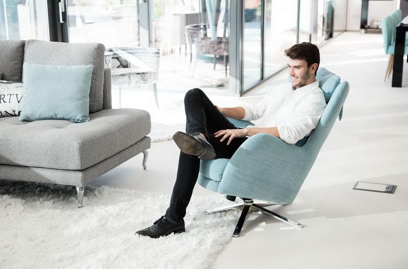 fauteuil Kylian FAMA relax pied inox Exodia