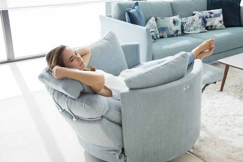 fauteuil MOON FAMA tissu gris