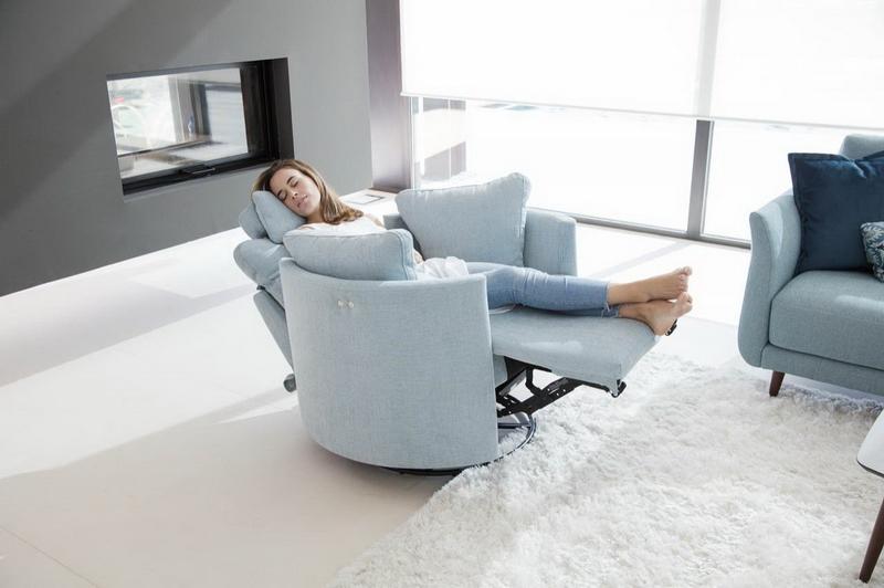 fauteuil de relaxation MOON FAMA tissu