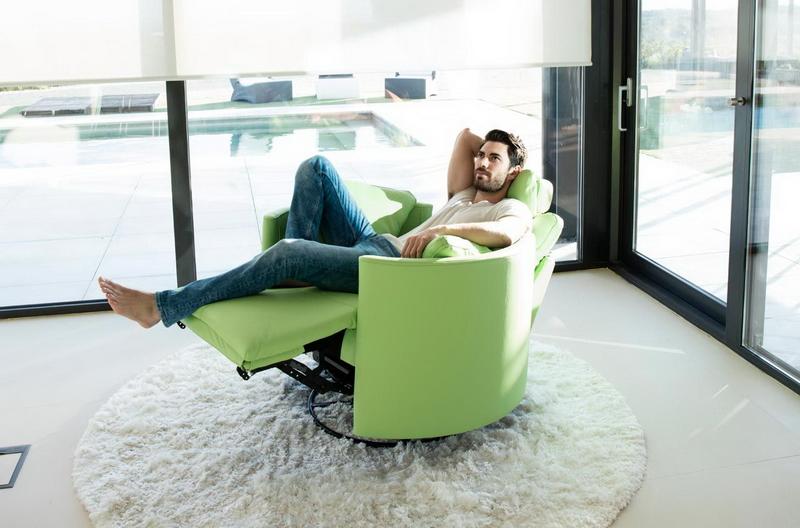 fauteuil electrique relax MOON vert FAMA Exodia