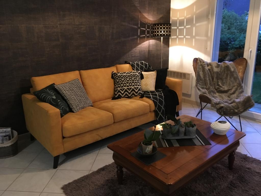 salon Nordic tissu deco safran Exodia Home design
