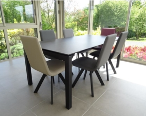 table extensible ceramique chaise pyramide veranda