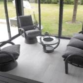 139 canape 3 places et fauteuils Valence rotin veranda