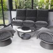 140 salon Valence rotin veranda titanio