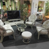146 fauteuil et canape rotin Golf taupe