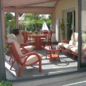 165 meubles rotin veranda mandarine Valence