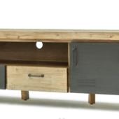 meuble TV industriel metal et bois