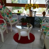 180 Salon rotin Golf blanc miami