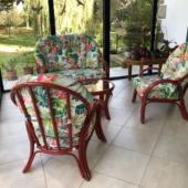 183 salon veranda rotin groseille Miami