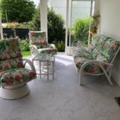 185 salon rotin blanc Miami veranda